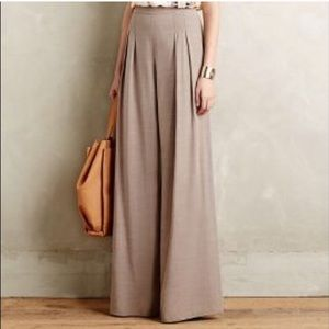 Anthropologie Elevenses High Rise Pleated Pant.